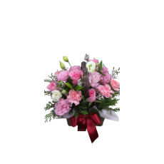 [스승의날 특가] 카네이션 바구니-핑크